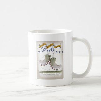 kängor för fotbollblåttlag kaffemugg