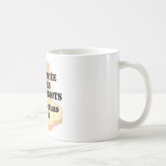 Kängor för strid för öken för medborgarevaktFiance Kaffemugg