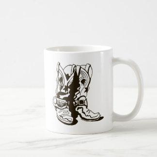 Kängor med sporrar kaffemugg