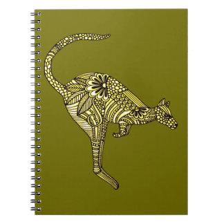 Känguru Anteckningsbok Med Spiral