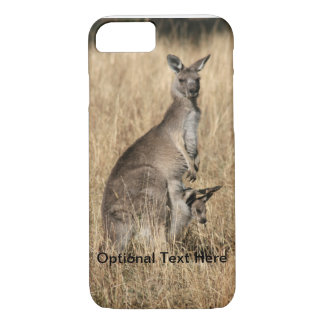 Känguru med babyen som är känguruunge i påse