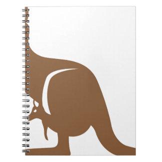 Känguru med bebiset anteckningsbok