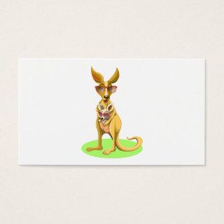 Känguru med exponeringsglas visitkort