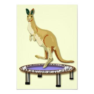 Känguru och Trampoline 12,7 X 17,8 Cm Inbjudningskort