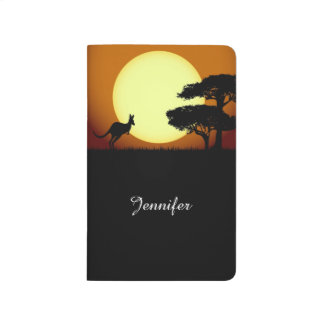 Känguru på solnedgången anteckningsbok
