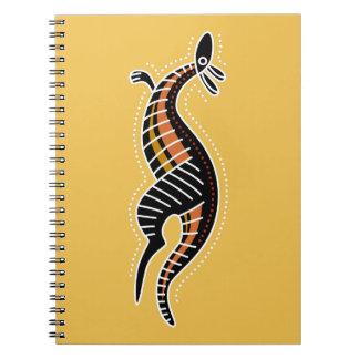 Känguru prucken design anteckningsbok