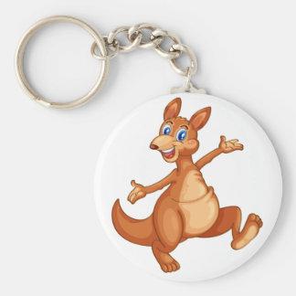känguru rund nyckelring