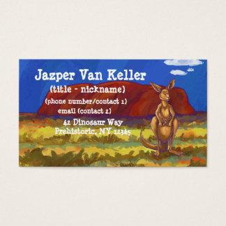 Kängurubrevpapper Visitkort