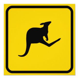 Kängurukorsning inbjudan