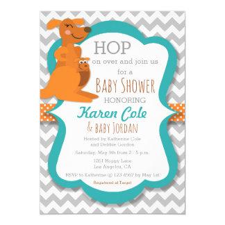 Kängurumammor & baby - baby shower Invitatoin 12,7 X 17,8 Cm Inbjudningskort