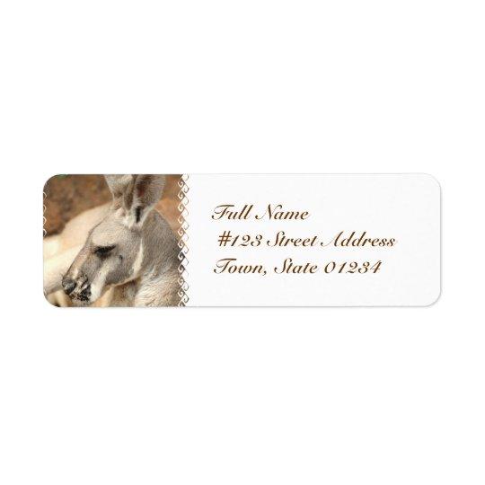 Kängurun profilerar brevskickandeetiketter returadress etikett