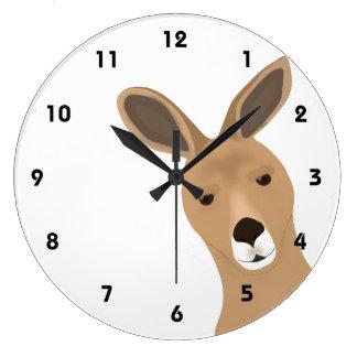 Kängurun tar tid på stor klocka