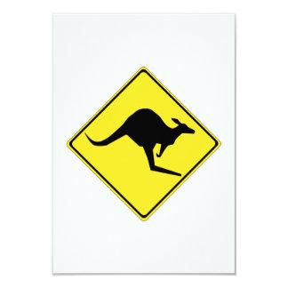 Kängurun undertecknar 8,9 x 12,7 cm inbjudningskort