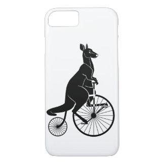 KänguruSilhouette som rider en cykel