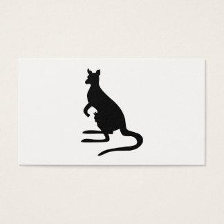 KänguruSilhouette Visitkort