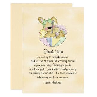 Kanin för baby showergenderneutralt 12,7 x 17,8 cm inbjudningskort