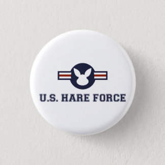 Kanin för United States Hareflygvapen Mini Knapp Rund 3.2 Cm