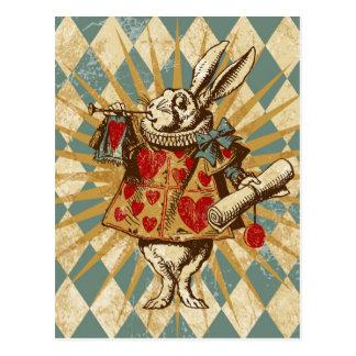 Kanin för vintageAlice vit Vykort
