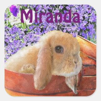 kanin i den personalizable klistermärken för