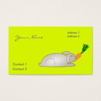 kanin i fluorescerande gult visitkort