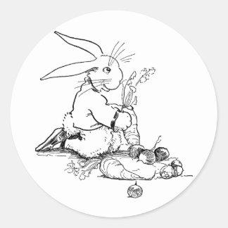 Kanin med smakliga Veggies Runt Klistermärke