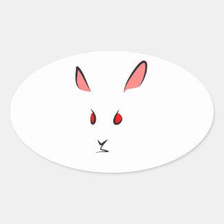 """Kanin "", Ovalt Klistermärke"