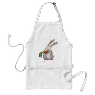 Kanin som äter en morot förkläde