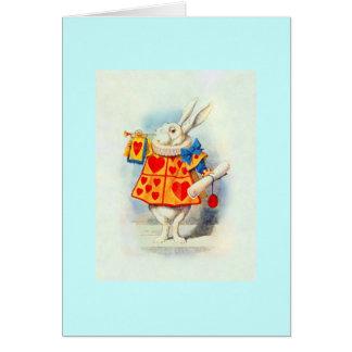 Kaninen i Alice i underland~-kort OBS Kort