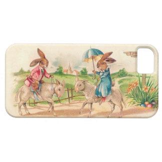 Kaniner som rider får - den gulliga vintagepåsken iPhone 5 skydd