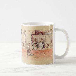 Kaningentlemän på spisen kaffemugg