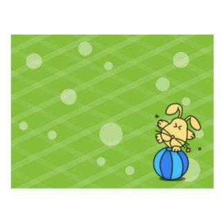 kaninhälsningkort vykort