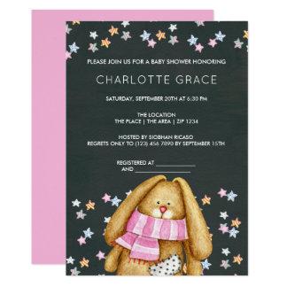 Kaninkanin och stjärnapersonligbaby shower 12,7 x 17,8 cm inbjudningskort