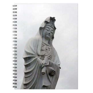 Kannon staty av Takasaki Anteckningsbok Med Spiral