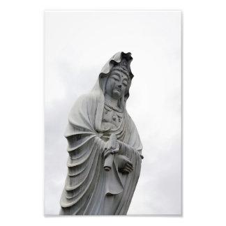 Kannon staty av Takasaki Fototryck