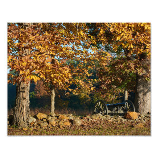 Kanon för Gettysburg nationalparknedgång Fototryck