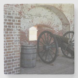 Kanon på fort Pulaski Underlägg Sten
