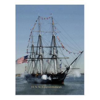 Kanoner för USS-konstitutionskottlossning Vykort