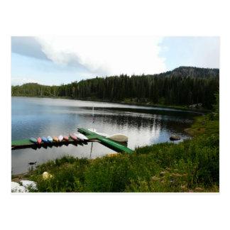 kanoter på sjö 2 vykort