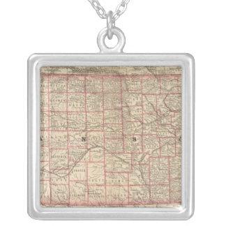 Kansas 3 silverpläterat halsband