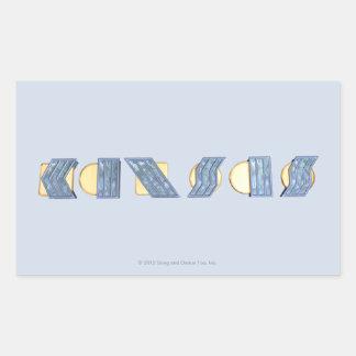 KANSAS (blått och guld) Rektangulärt Klistermärke