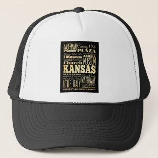 Kansas City av Missouri statlig typografikonst Truckerkeps