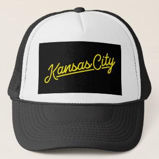 Kansas City i gult Truckerkeps