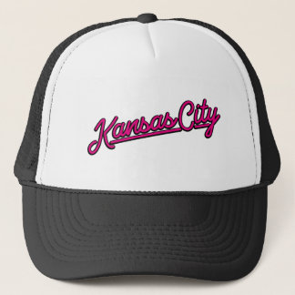 Kansas City i magenta Truckerkeps
