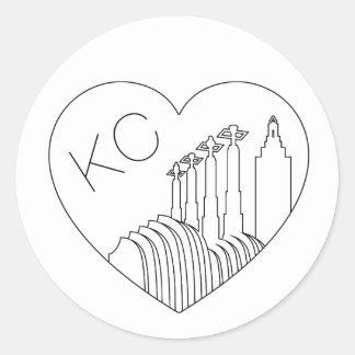 Kansas City - minimalisten fodrar Runt Klistermärke