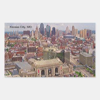 Kansas City område för frihet för MO-horisont Rektangulärt Klistermärke