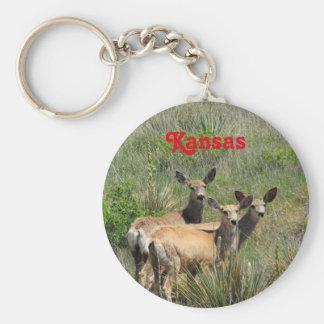 Kansas hjortnyckelring rund nyckelring