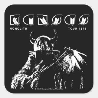 KANSAS - Monolit (1979) Fyrkantigt Klistermärke