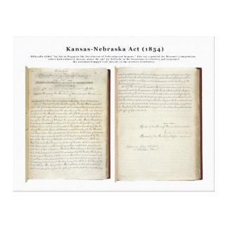 Kansas-Nebraska agerar (1854) Canvastryck
