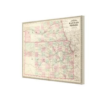 Kansas och Nebraska Canvastryck