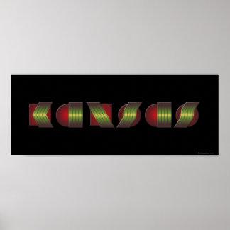 KANSAS (peka av vet återgånga färger), Poster
